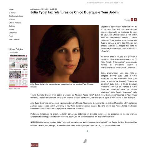Diário de Sorocaba online (Entremeados)