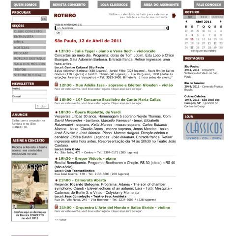 Revista Concerto (Entremeados)
