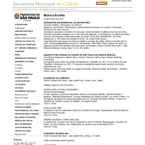 Portal da Prefeitura de São Paulo (Entremeados)