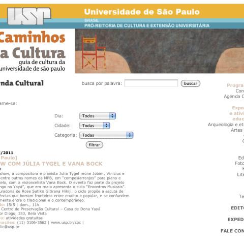 USP Caminhos da Cultura (Entremeados)