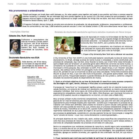 Entrevista Comissão Fulbright