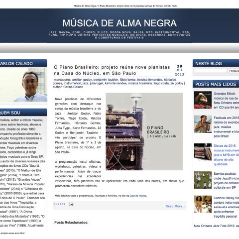Música de Alma Negra - Carlos Calado 1 (O piano brasileiro)