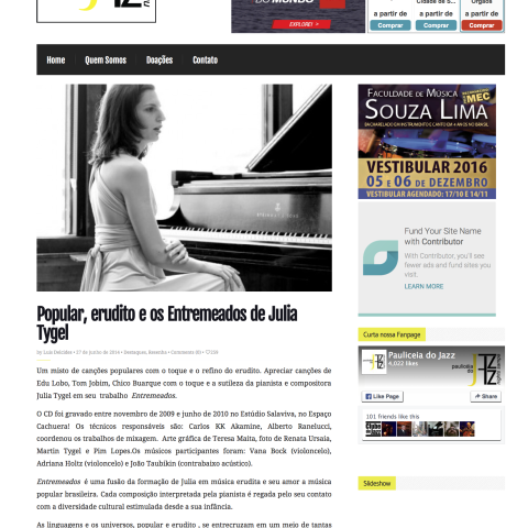 Paulicéia do Jazz (Entremeados)
