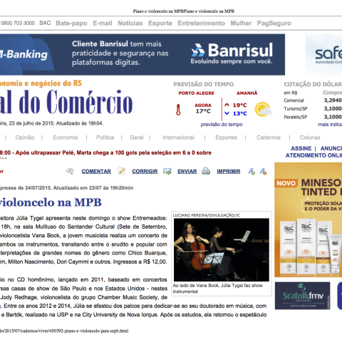 Jornal do Comércio - Porto Alegre (Entremeados)