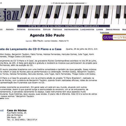 E-jazz (O piano brasileiro)