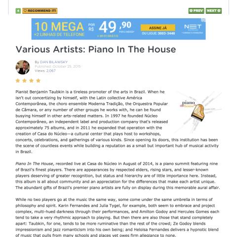 All About Jazz (O piano brasileiro)