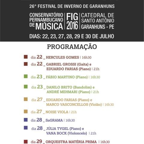 Festival de Inverno de Garanhuns / FIG (Entremeados: Novos Enredos)