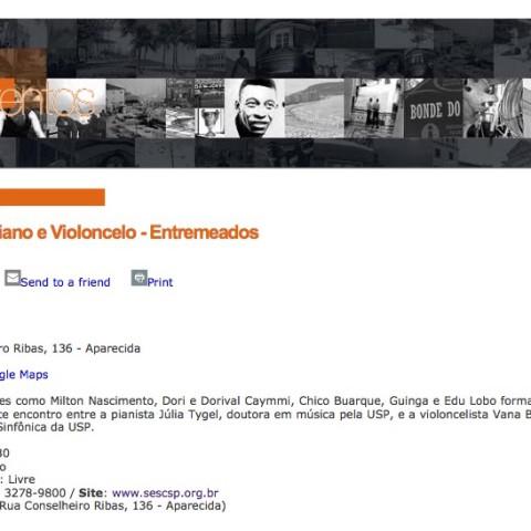 Secretaria de Turismo - Santos (Entremeados: Novos Enredos)